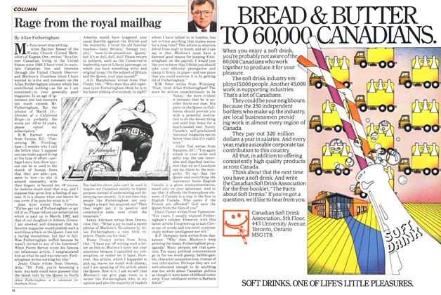 Article Preview: Rage from the royal mailbag, May 1983 | Maclean's