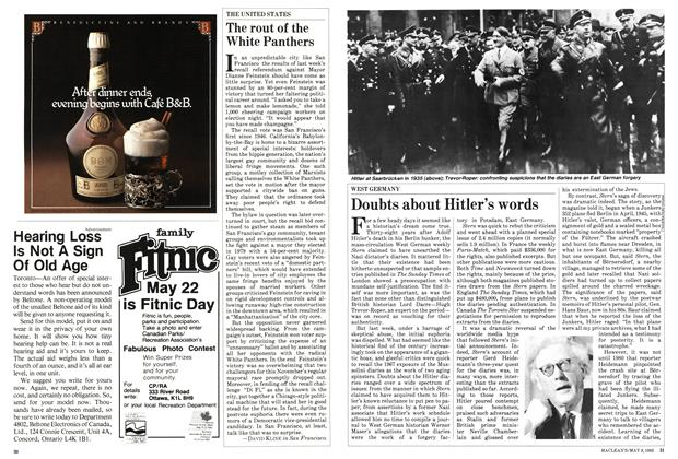 Article Preview: Doubts about Hitler's words, May 1983 | Maclean's