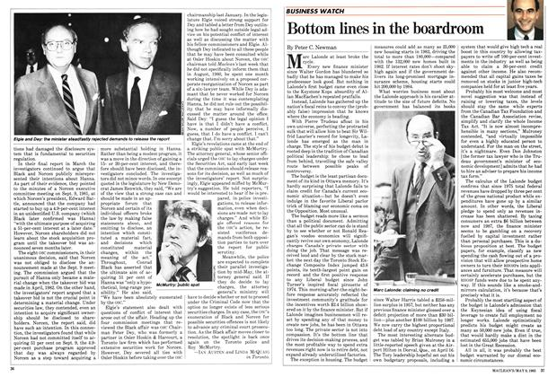 Article Preview: Bottom lines in the boardroom, May 1983 | Maclean's