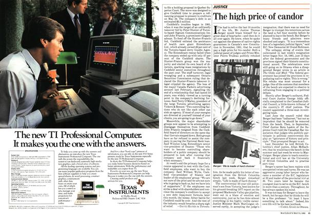Article Preview: The high price of candor, May 1983 | Maclean's