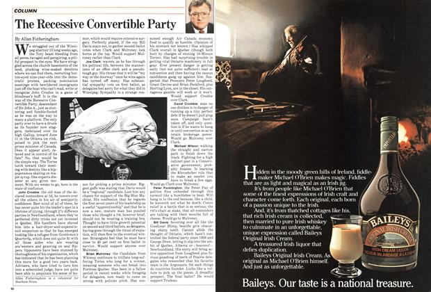 Article Preview: The Recessive Convertible Party, May 1983 | Maclean's