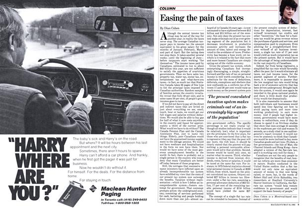 Article Preview: Easing the pain of taxes, May 1983 | Maclean's
