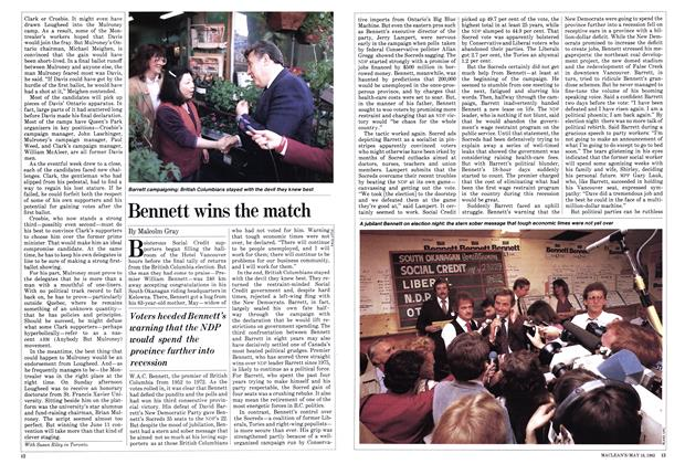 Article Preview: Bennett wins the match, May 1983 | Maclean's