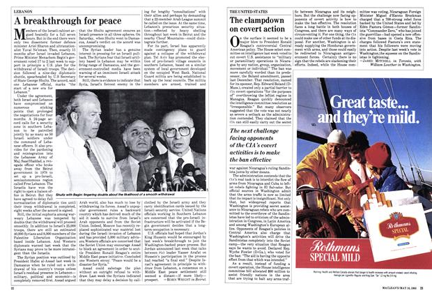 Article Preview: A breakthrough for peace, May 1983   Maclean's