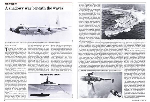 Article Preview: A shadowy war beneath the waves, May 1983 | Maclean's