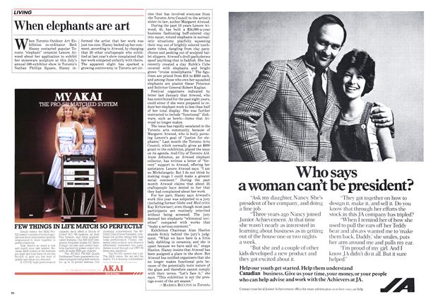 Article Preview: When elephants are art, May 1983 | Maclean's