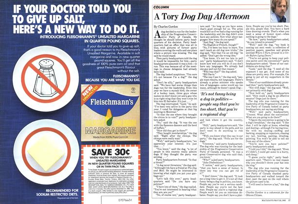 Article Preview: A Tory Dog Day Afternoon, May 1983 | Maclean's