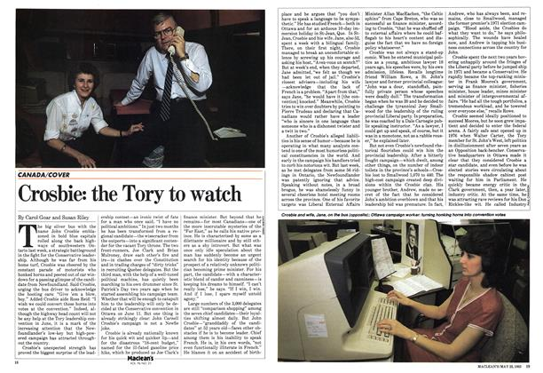 Article Preview: Crosbie: the Tory to watch, May 1983 | Maclean's