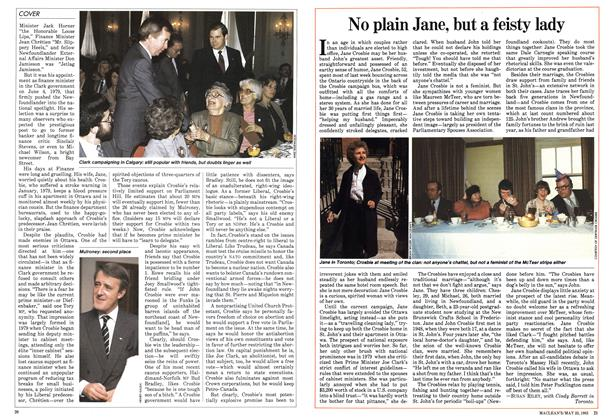 Article Preview: No plain Jane, but a feisty lady, May 1983 | Maclean's