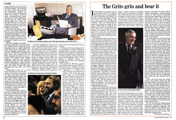 Article Preview: The Grits grin and bear it, May 1983 | Maclean's