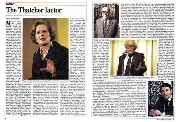Article Preview: The Thatcher factor, May 1983 | Maclean's