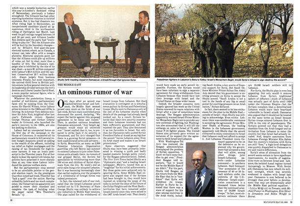 Article Preview: An ominous rumor of war, May 1983 | Maclean's