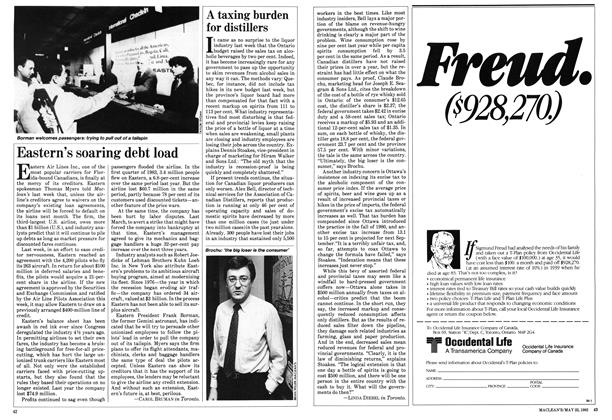 Article Preview: A taxing burden for distillers, May 1983 | Maclean's
