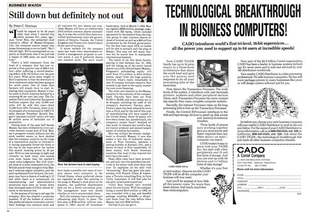 Article Preview: Still down but definitely not out, May 1983 | Maclean's