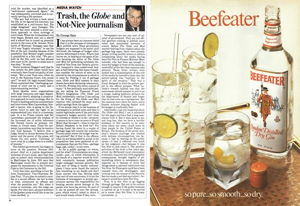 Article Preview: Trash, the Globe and Not-Nice journalism, May 1983 | Maclean's
