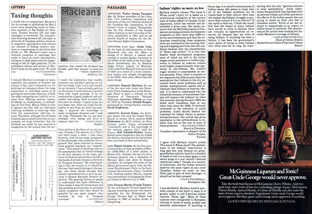 Article Preview: Taxing thoughts, May 1983 | Maclean's