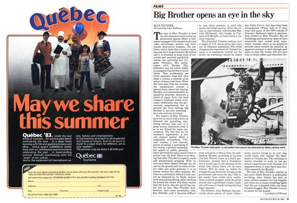 Article Preview: Big Brother opens an eye in the sky, May 1983 | Maclean's