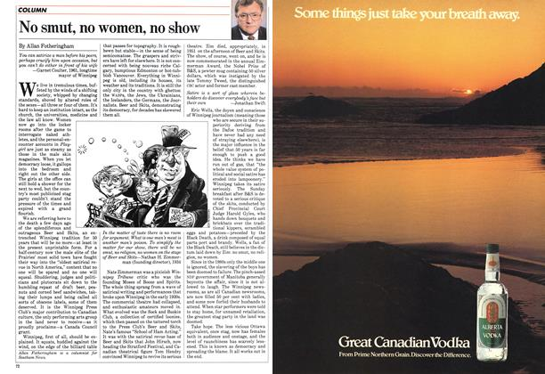 Article Preview: No smut, no women, no show, May 1983 | Maclean's