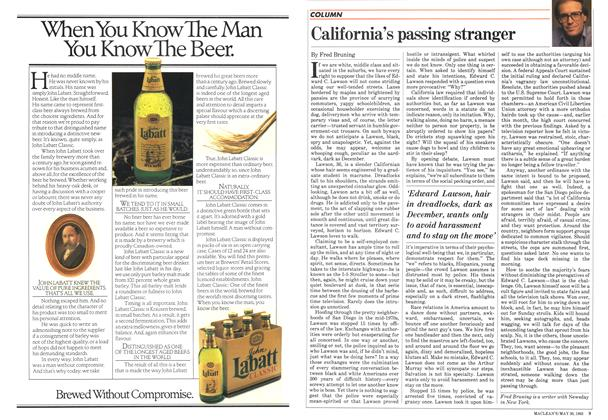 Article Preview: California's passing stranger, May 1983 | Maclean's