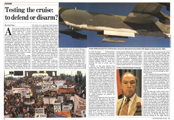Article Preview: Testing the cruise: to defend or disarm?, May 1983 | Maclean's