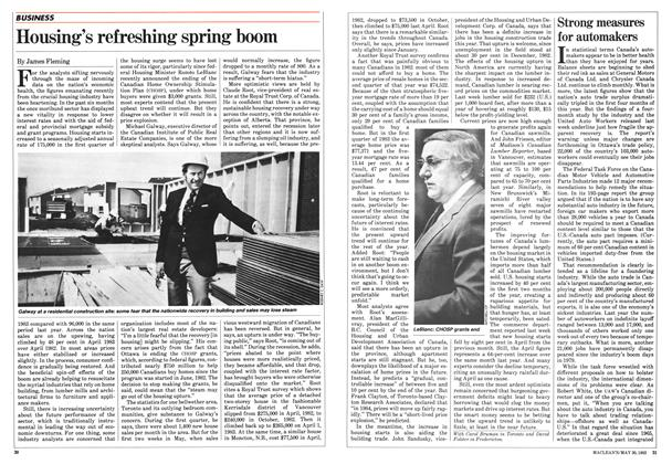 Article Preview: Housing's refreshing spring boom, May 1983 | Maclean's