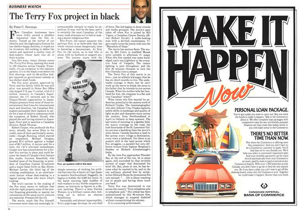 Article Preview: The Terry Fox project in black, May 1983 | Maclean's