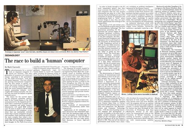 Article Preview: The race to build a 'human' computer, May 1983 | Maclean's