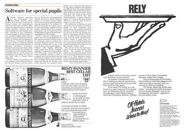 Article Preview: Software for special pupils, May 1983 | Maclean's