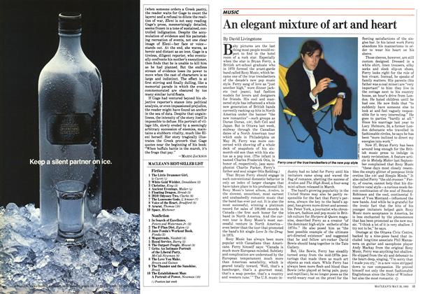 Article Preview: An elegant mixture of art and heart, May 1983 | Maclean's