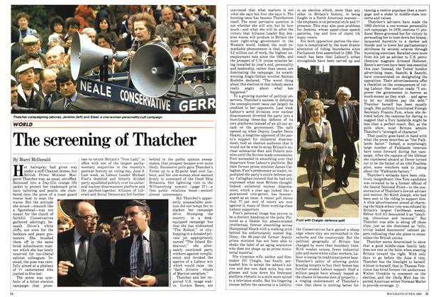 Article Preview: The screening of Thatcher, June 1983 | Maclean's