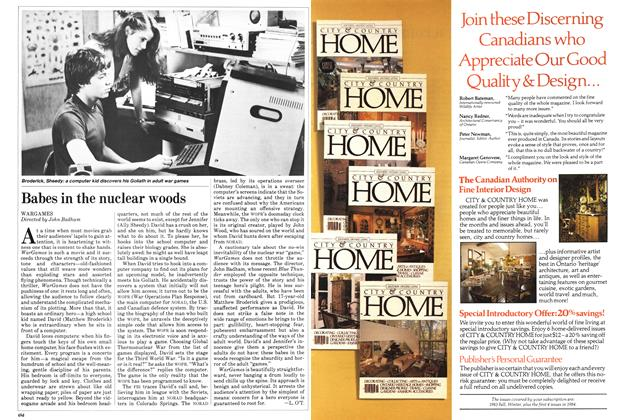 Article Preview: Babes in the nuclear woods, June 1983 | Maclean's