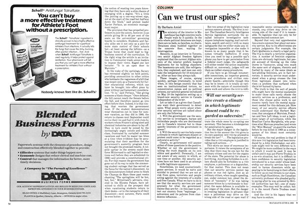 Article Preview: Can we trust our spies?, June 1983 | Maclean's