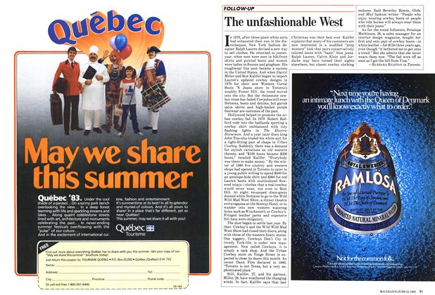 Article Preview: The unfashionable West, June 1983 | Maclean's