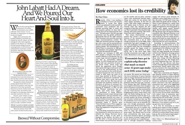 Article Preview: How economics lost its credibility, June 1983 | Maclean's