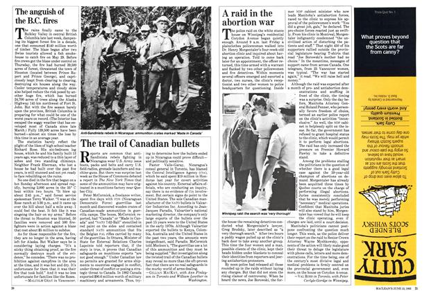 Article Preview: A raid in the abortion war, June 1983 | Maclean's