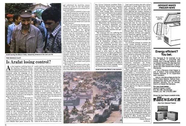 Article Preview: Is Arafat losing control?, June 1983 | Maclean's
