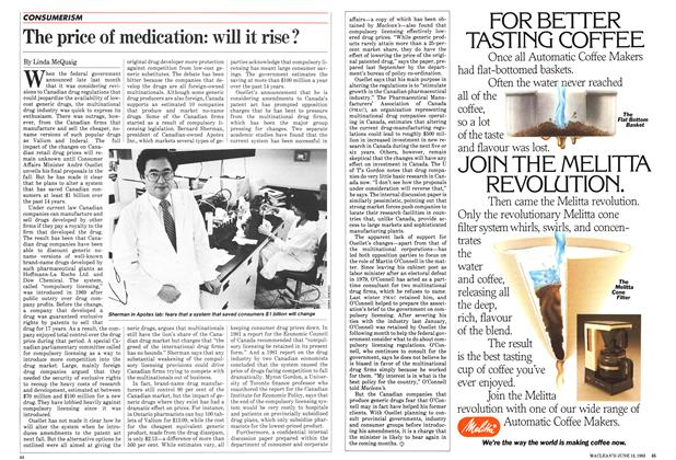 Article Preview: The price of medication: will it rise?, June 1983 | Maclean's