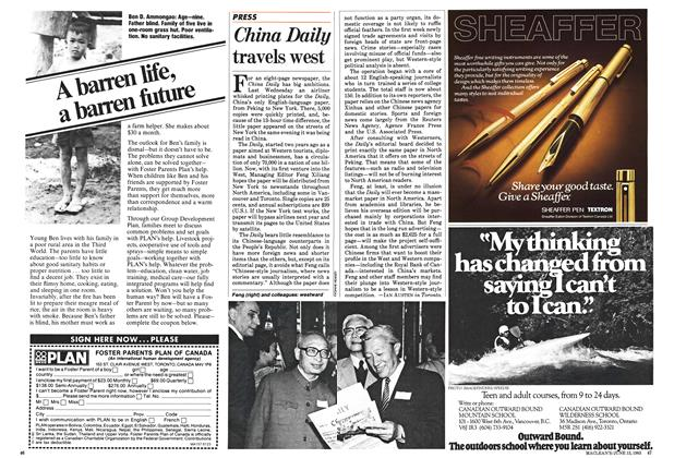 Article Preview: China Daily travels west, June 1983   Maclean's