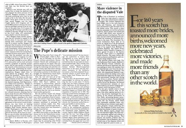 Article Preview: The Pope's delicate mission, June 1983 | Maclean's