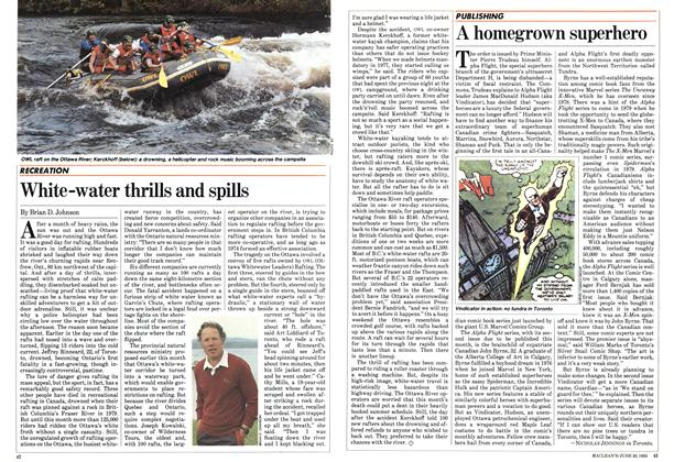 Article Preview: White-water thrills and spills, June 1983 | Maclean's