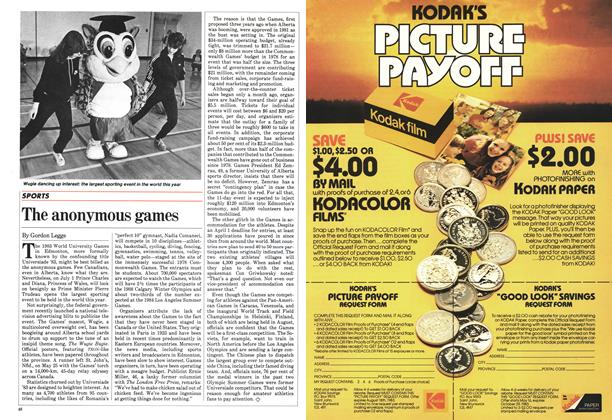 Article Preview: The anonymous games, June 1983 | Maclean's