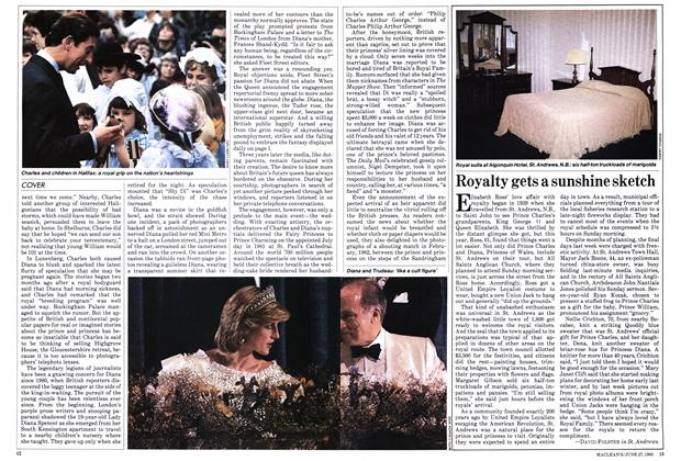 Article Preview: Royalty gets a sunshine sketch, June 1983 | Maclean's