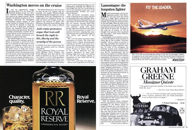 Article Preview: Lamontagne: the forgotten fighter, June 1983 | Maclean's