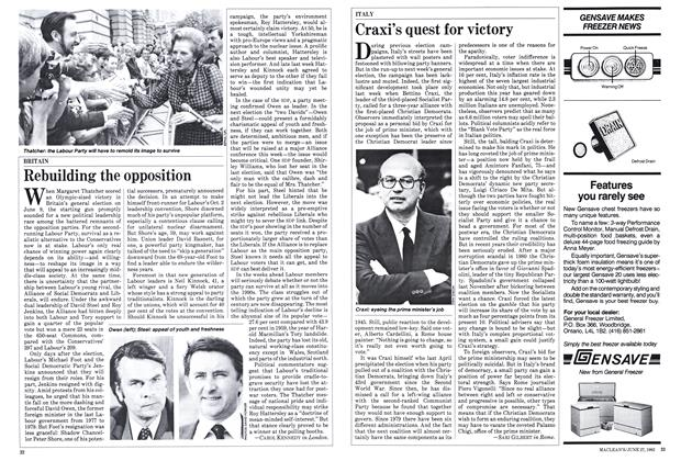 Article Preview: Craxi's quest for victory, June 1983 | Maclean's