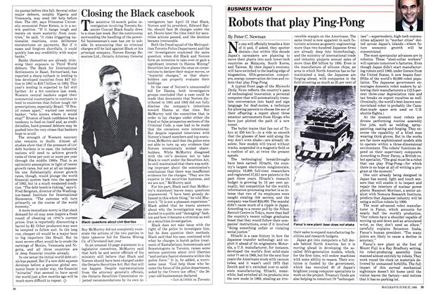 Article Preview: Robots that play Ping-Pong, June 1983 | Maclean's