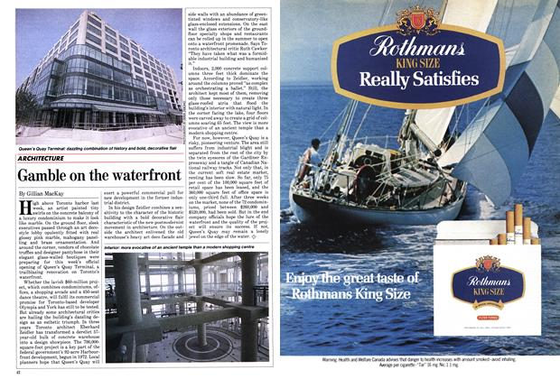 Article Preview: Gamble on the waterfront, June 1983 | Maclean's