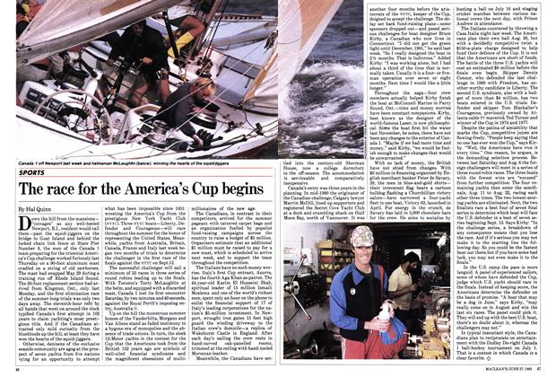 Article Preview: The race for the America's Cup begins, June 1983 | Maclean's