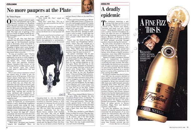 Article Preview: No more paupers at the Plate, June 1983 | Maclean's