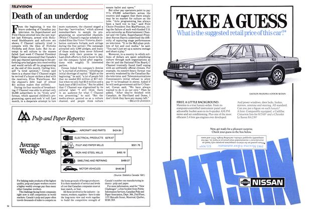 Article Preview: Death of an underdog, June 1983 | Maclean's