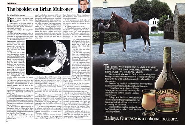 Article Preview: The booklet on Brian Mulroney, June 1983 | Maclean's